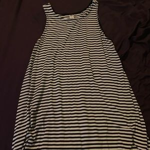 Old navy striped swing dress L